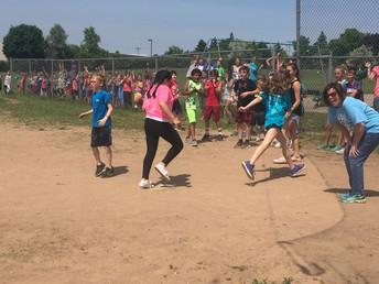 4th vs 5th Grade Kickball Game