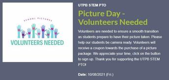 Picture Day Volunteers Needed
