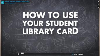 cómo usar su tarjeta de biblioteca de estudiante