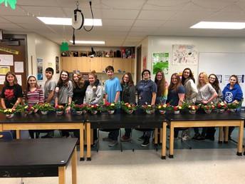CCHS Floral Arranging Class