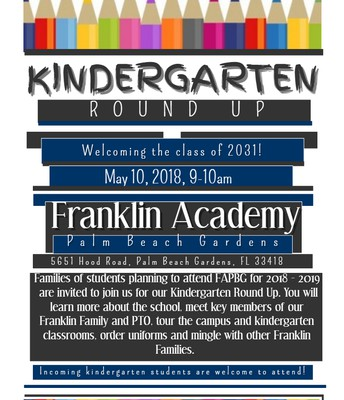 Kindergarten Round Up is May 10th for all incoming K students!