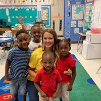 Ms. Eddy loves her Kindergarten Campers!