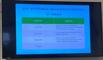 Descriptors instead of Labels