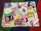 Graffiti Board Explaining Financial Literacy