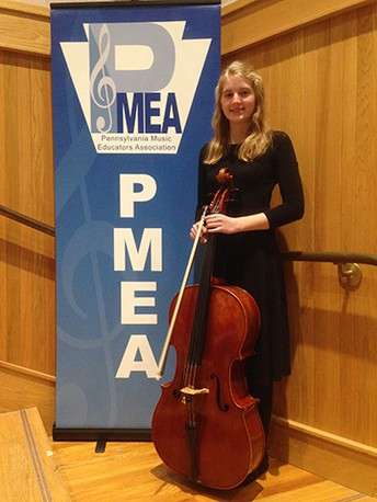 Junior Naomi Aires Retains First Chair in Cello at PMEA District Competition