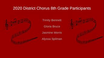 Trinity Bennett, Gloria Bruce, Jasmine Morris, Alyssa Spilman
