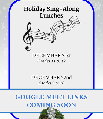Holiday Sing-Along Lunches: