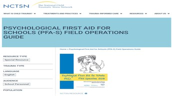 Psychological First Aid for Schools Field Operation Guide