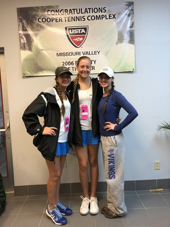 Zile & VanMatre Finish 8th At State Tennis