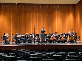 Symphony Orchestra had a beautiful performance at the FBISD Invitational Honor Concert at HBU!