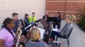 Saxophones enjoying the fall weather