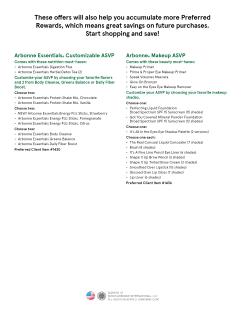 Preferred Client Custom ASVP (ctd.)