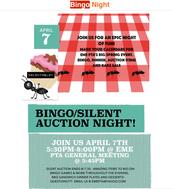 Bingo / Silent Auction, April 7