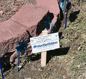 Donated Pinwheels & Precious Resources Donation Sign
