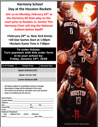 Harmony School Day at the Houston Rockets
