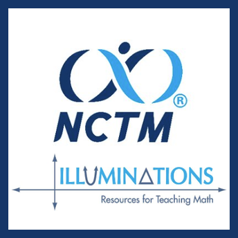 This is an image of the the National Council of Teachers of Mathematics (NCTM) Illuminations website and a link to the same.