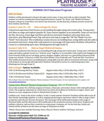 Playhouse on Park- Summer Programs