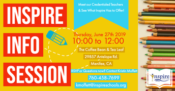 Inspire Info Session in MENIFEE