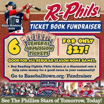 Reading Fightin Phils Ticket Book Fundraiser