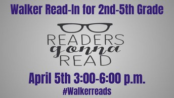 Walker Read-In this Friday, April 5th