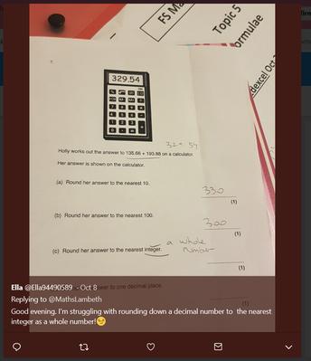 Learner using twitter to seek help