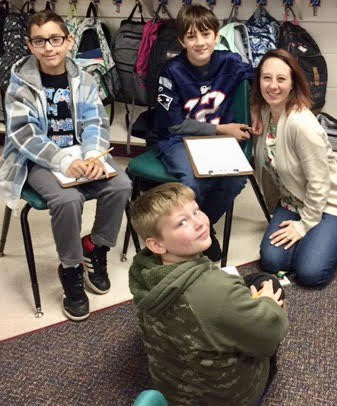 5th graders write letters to the men and women in the armed services