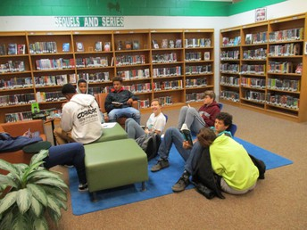 9th Grade Book Talks and Checkout