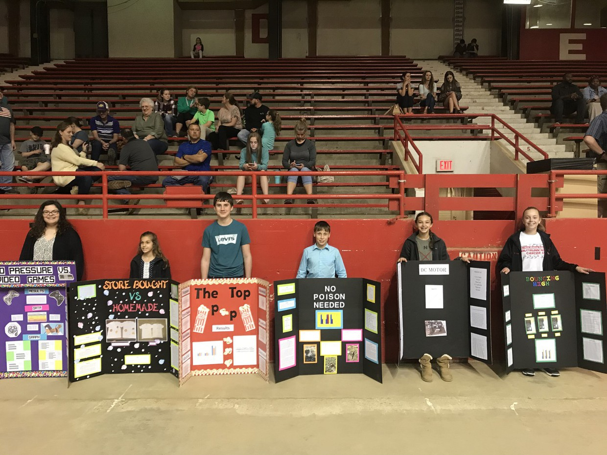 Congratulations to the 7 students who participated in the Regional Science Fair this past Saturday, February 23rd. Jackie Lahman placed second in the Physics and Astronomy Category and Taylor Bourgeois placed first in the Behavioral and Social Sciences Category. Taylor also placed second OVERALL in the Junior Division of the Regional Science Fair. Thank you all, for representing our school this weekend!!