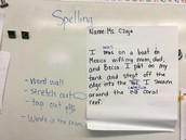 Checking spelling