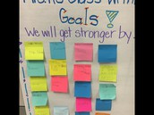 Mrs. Kurtzhals' class set writing goals for themselves!