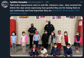Alief Police Department and Alexander Elementary School