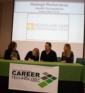 Haleigh Richardson, Health Occupations