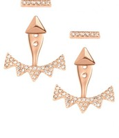 Pave Triangle Ear Jacket - Rose Gold