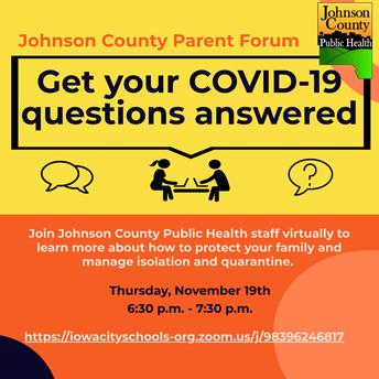 JCPH COVID 19 parent forum