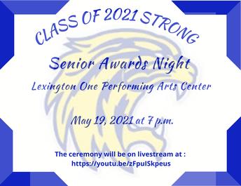 Senior Awards Night - Wednesday, May 19