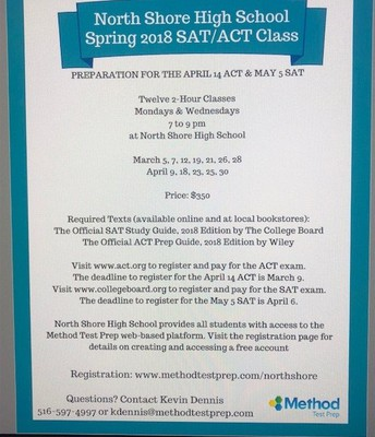 SAT/ACT Prep Classes At North Shore High School