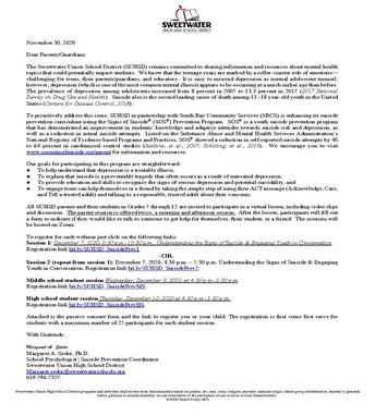 SOS Parent Guardian Information Letter