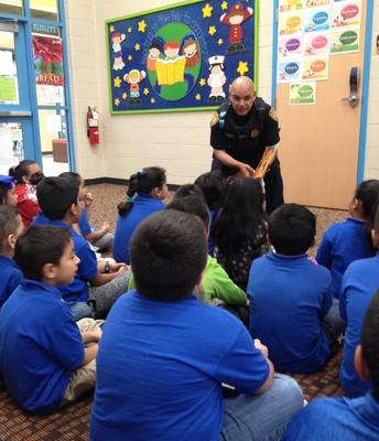 Reads to first grade class