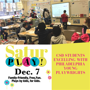 CSD Students Excelling with Philadelphia Young Playwrights