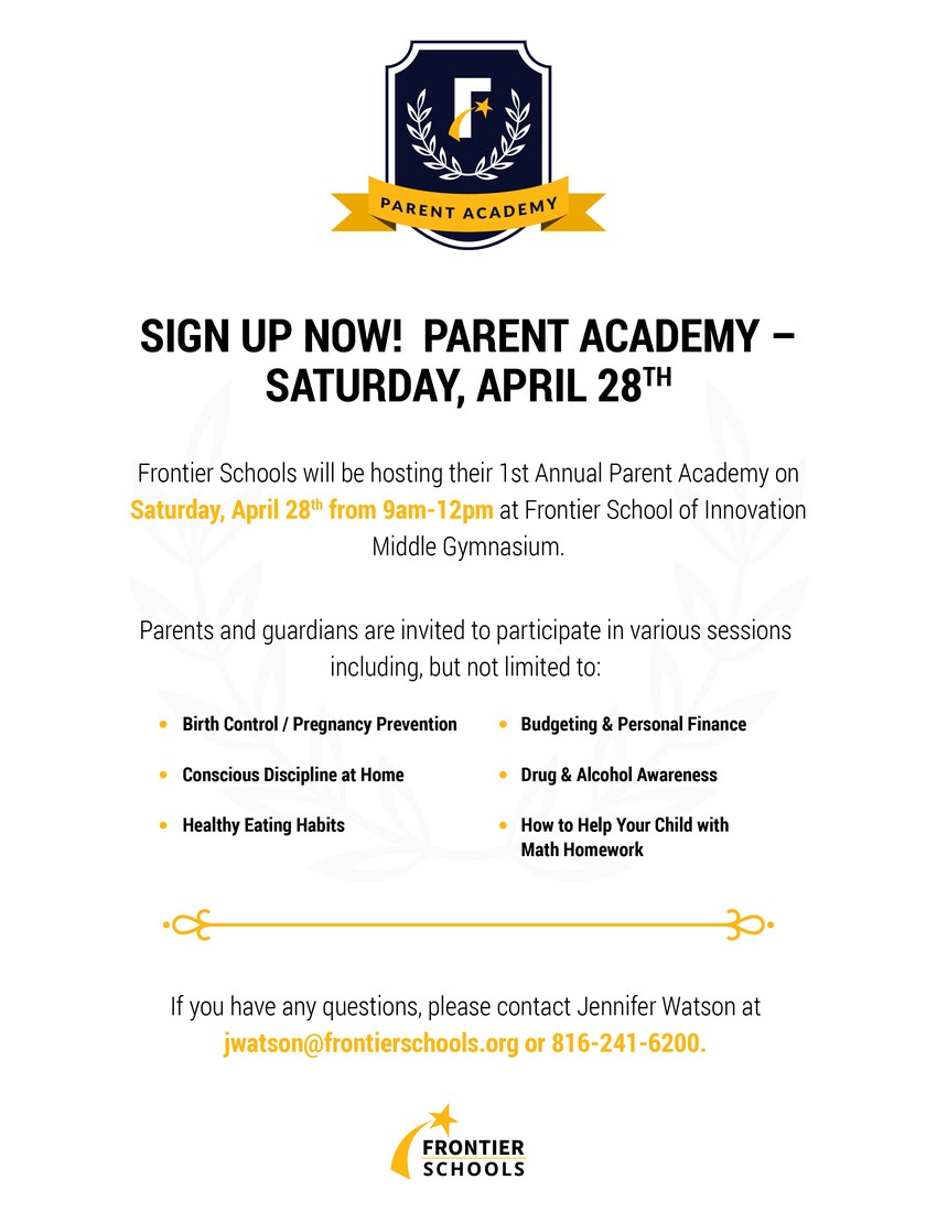 Parent Academy - Sign Up