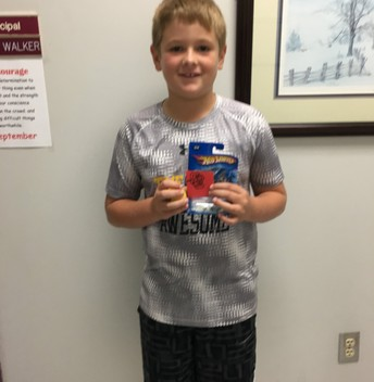 Isaac earned a Red Raider prize!