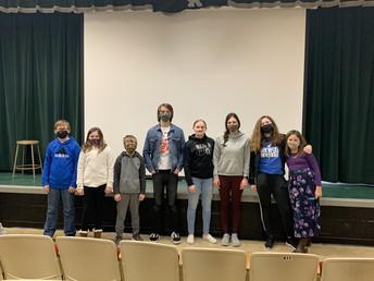 Senior Band Students Visit 5th Graders