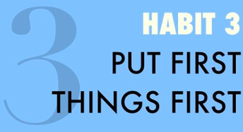 Habit #3- First Things First - Award Winners