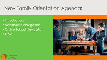 New Family Orientation (Session #1)