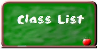 Class Lists for 2019-20