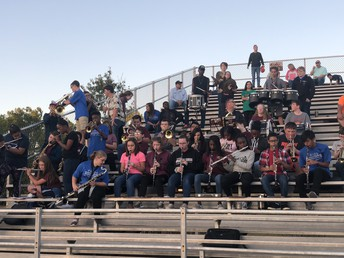 Thanks to our band for supporting our football team at LBC.
