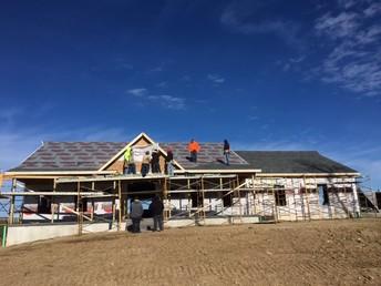 Preparing to shingle roof