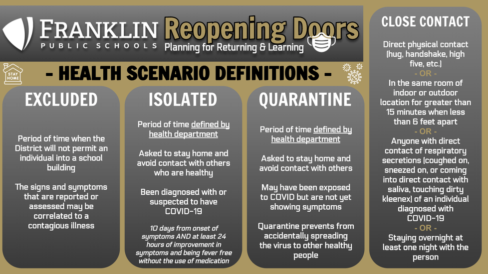 Click for health scenario definitions