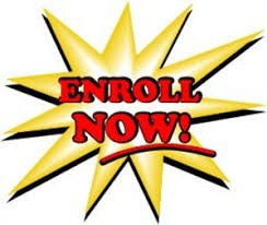 Enroll Now!  text written on a yellow star