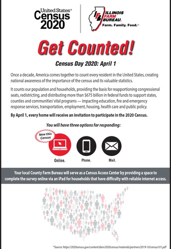 Illinois County Farm Bureaus Receive  iPads to Aid 2020 Census Campaign